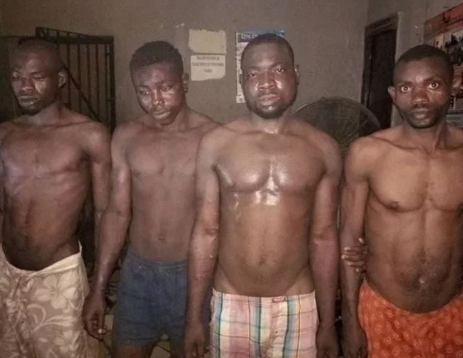 Pictures of 4 Suspected Boko Haram Members Arrested in Edo State , Benin city