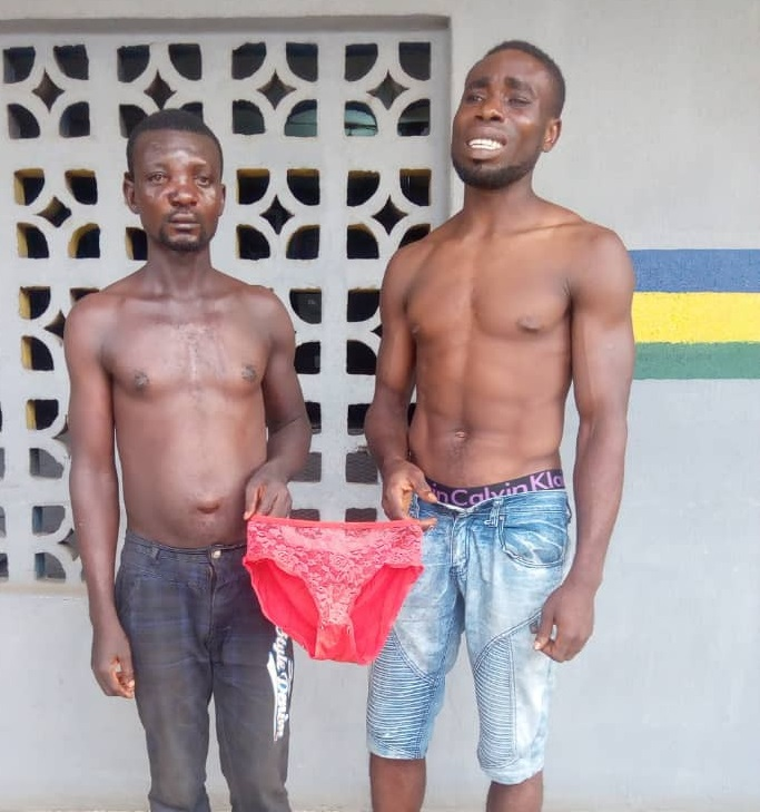 2 Guys In Police Custody For Stealing Red Pant in Lagos