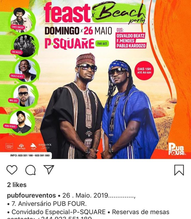 Peter Okoye outs promoter