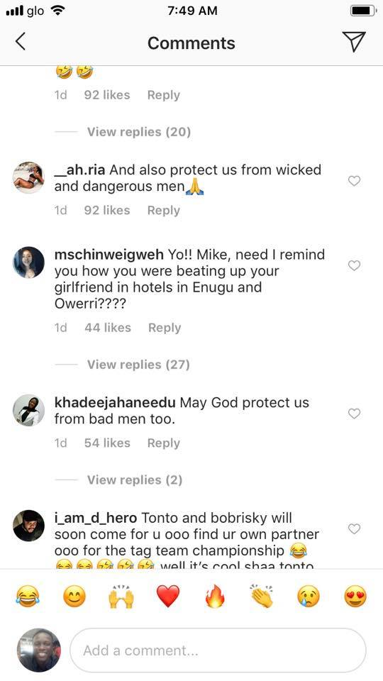 Fans blasts Mike Godson for shading Tonto Dikeh, calling him a woman beater 8