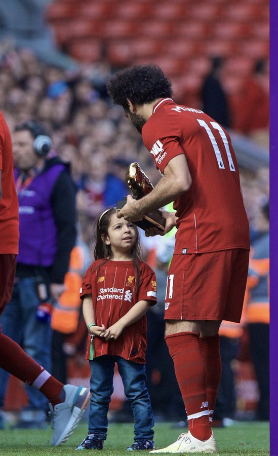 Mohamed Salah's daughter warms hearts