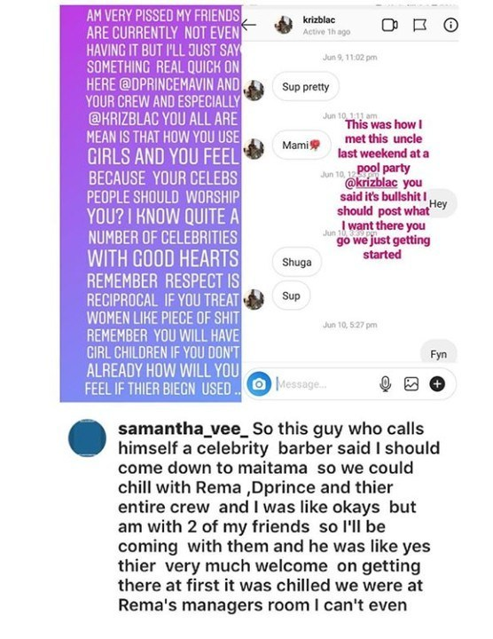 Abuja based lady calls out Rema