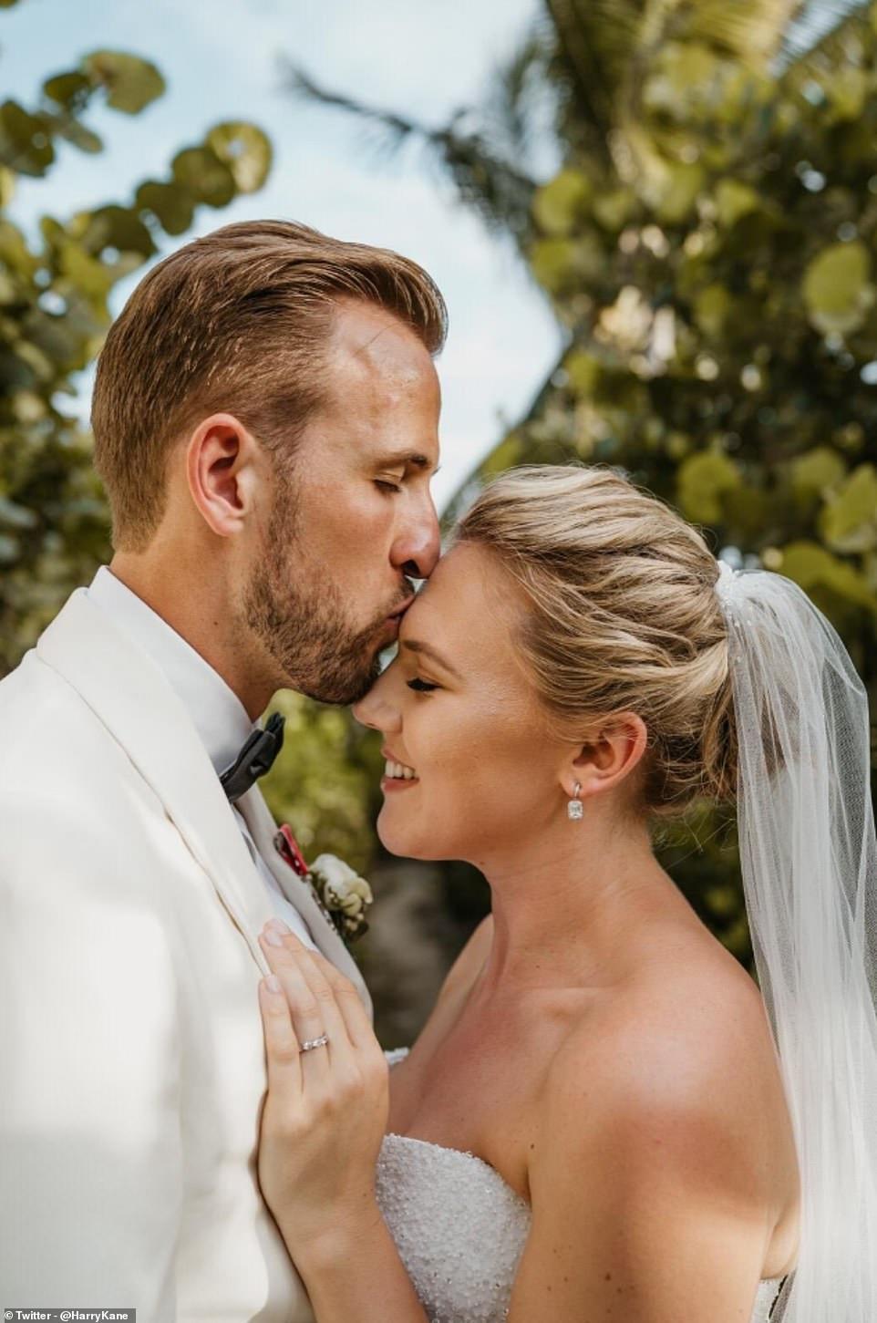 England captain, Harry Kane weds childhood sweetheart, Katie Goodland in secret ceremony at exotic resort (Photos)