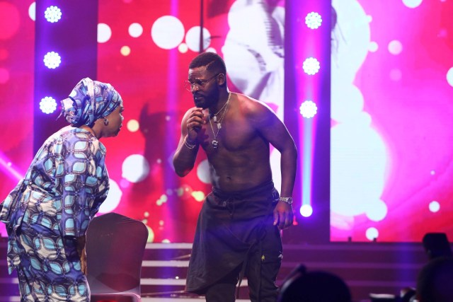 Photos: Falz stuns with strip tease at his concert