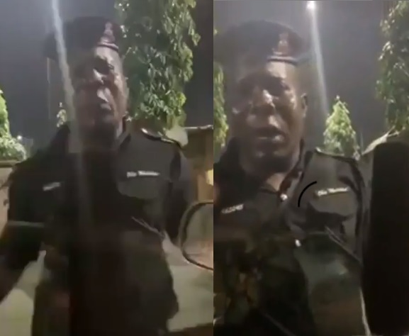 Nigerian Policeman cries out