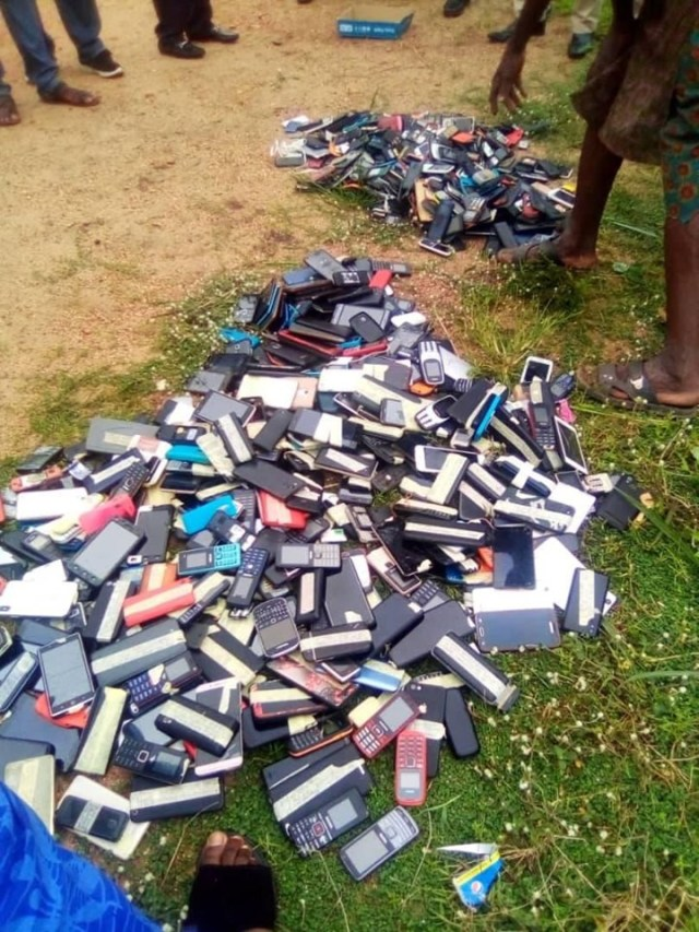Exam malpractices: Management of Polytechnic  burns phones seized from students (Photos) 2