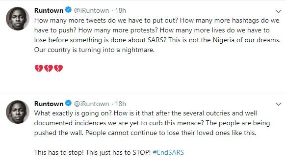 Singer Runtown says