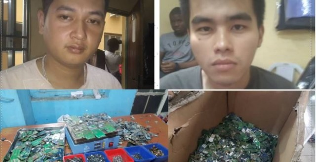 Chinese expatriates arrested