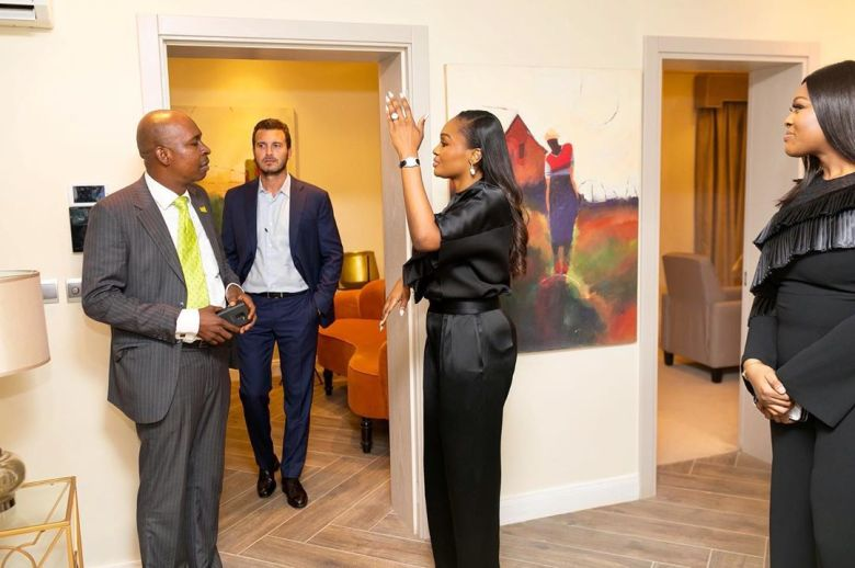 Image result for Bella Adenuga Disu completes luxurious high rise complex with 18 Units of Luxury Serviced Apartments