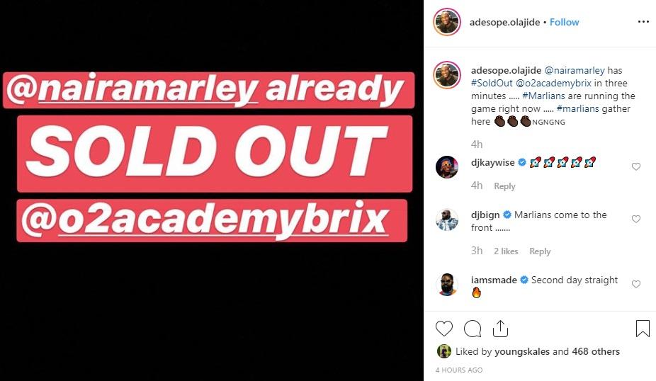 Naira Marley Sells Out