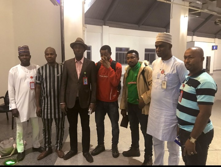 Two FUTO students who were detained in a Bosnia Camp after a Tennis Tournament in Croatia return to Nigeria