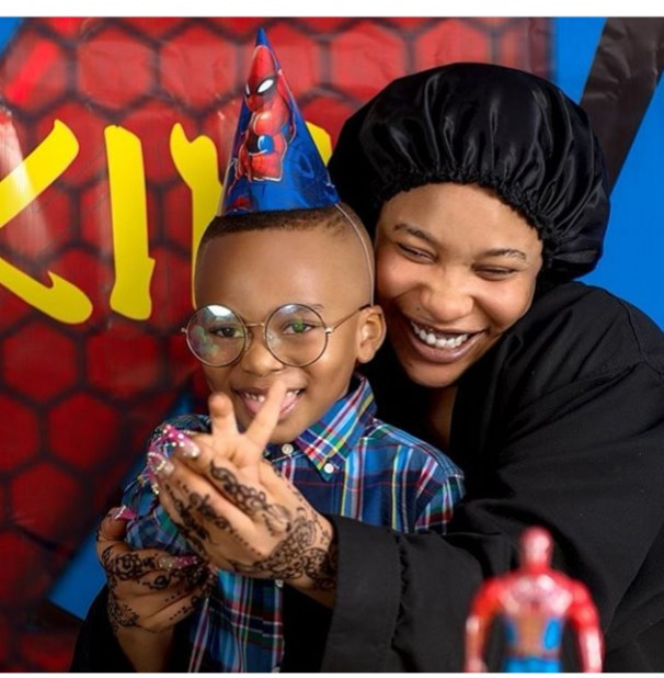 """""""Blood ain't family"""" – Tonto Dikeh thanks her """"big baby"""" for being there on her son's birthday 1"""