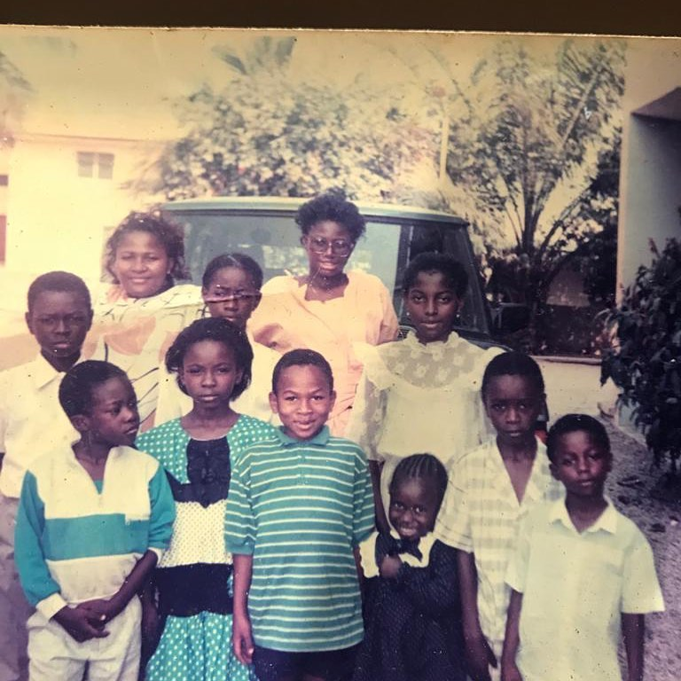 'Your son is your photocopy' – Fans tell Olakunle Churchill after sharing throwback photo
