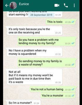 """Working class lady blows hot on her unemployed boyfriend after discovering that he """"squandered"""" her money (Screenshots) 11"""