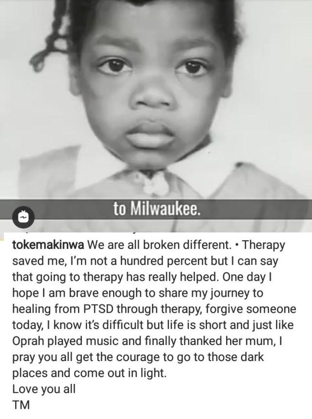 Toke Makinwa reveals