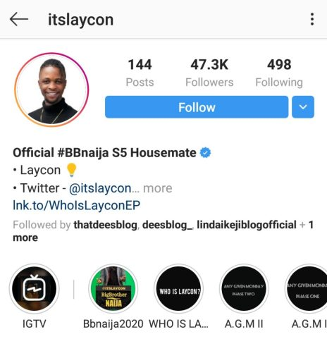 Laycon Becomes First Housemate