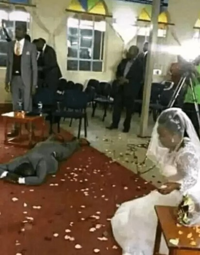 Confirm Gist!! Man collapses after he discovered that his bride has four grownup children on his wedding day
