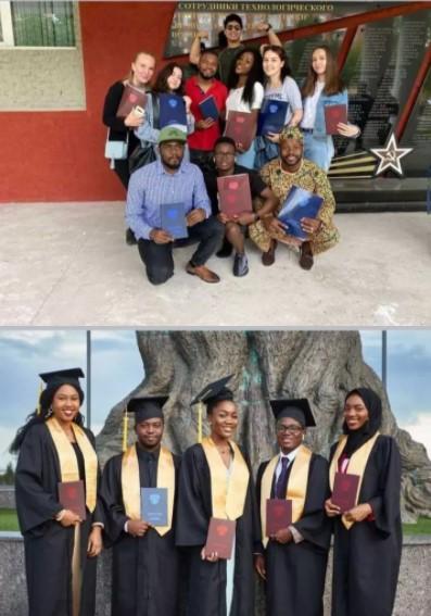 Nigerian lady graduates
