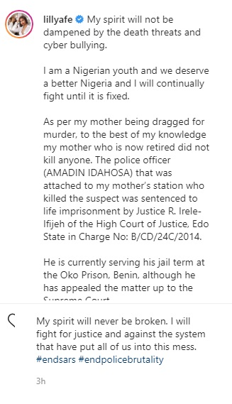 Lilian Afegbai reveals her mother killed no one; says the officer who did has been jailed