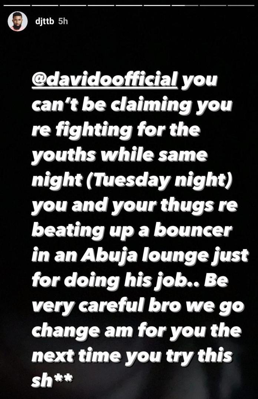 davido called out