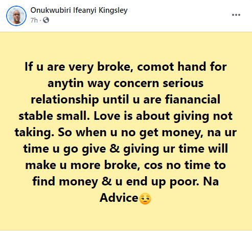 man advises