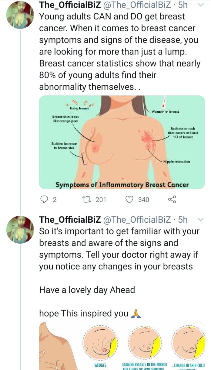 Photos : Breast Cancer survivor shares topless photo after undergoing double mastectomy as she advices women
