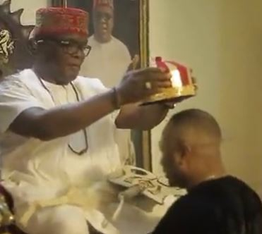 Tonto Dikeh's ex-husband, Olakunle Churchill bags another chieftaincy title (Video)