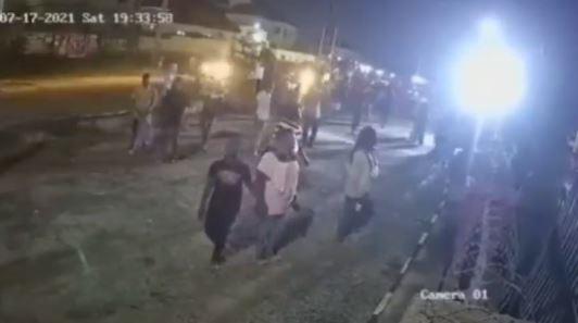 CCTV footage shows