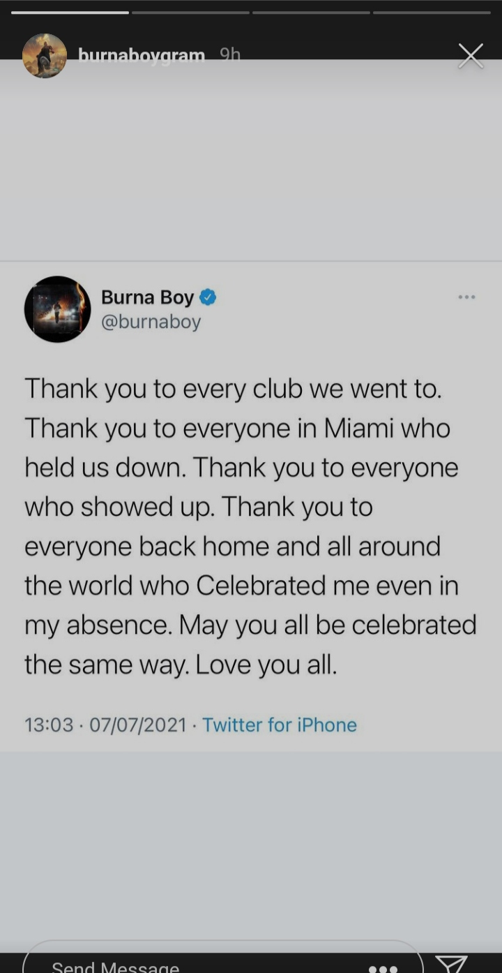 """""""I wasn't sure I'd even see age 30"""" – Burna Boy reveals as he appreciates those who celebrated him on his birthday"""