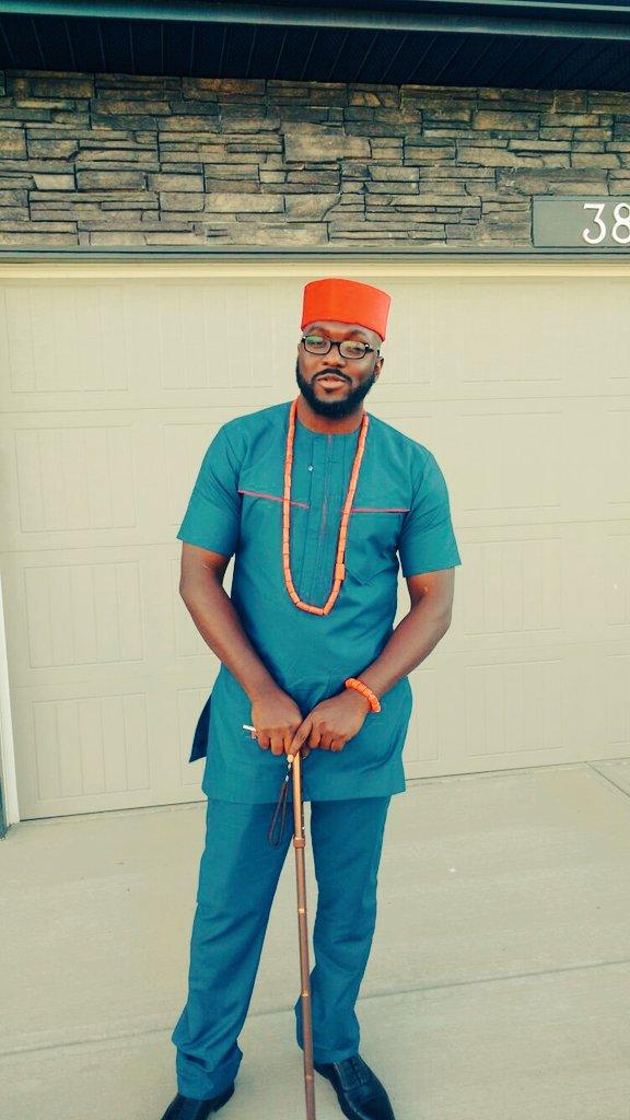 Nigerian man celebrates
