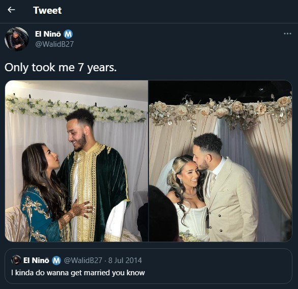 """Feminist weds lover six years after telling her followers """"she's never  going to get married"""" 