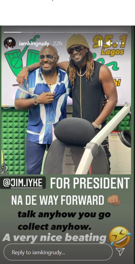 Paul Okoye hails