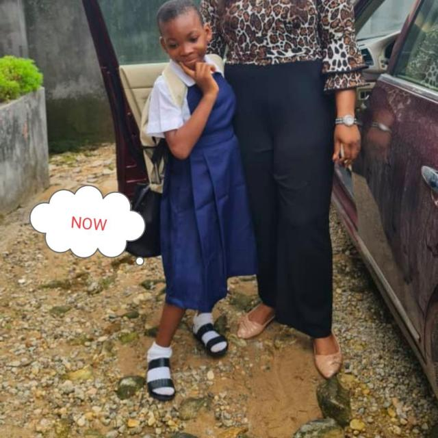 See transformation of an 11-year-old girl found almost lifeless on the road in Calabar after being accused of witchcraft and thrown out by her grandma