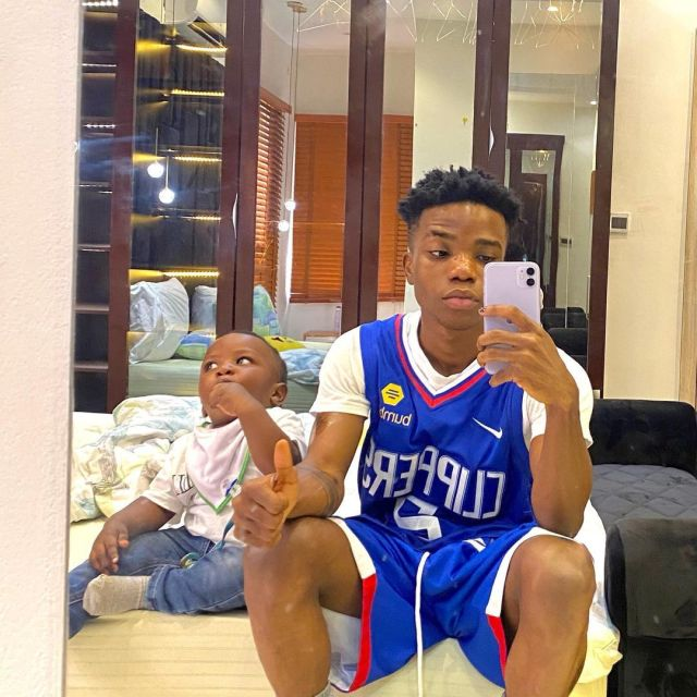 Singer, Lyta shares a photo with his son days after reuniting with him