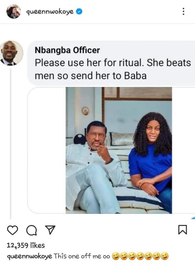 Queen Nwokoye reacts