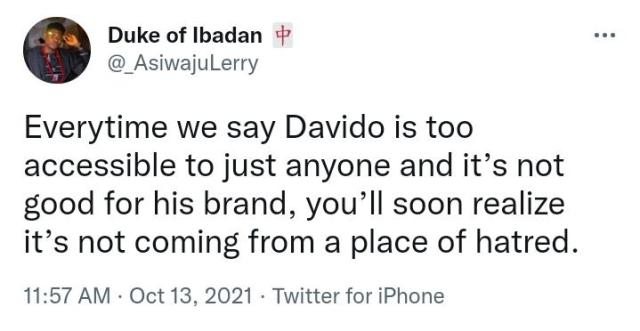 """""""Y'all need to breath"""" – BBNaija star Angel reacts as Davido's fans express outrage over her meeting with the singer"""
