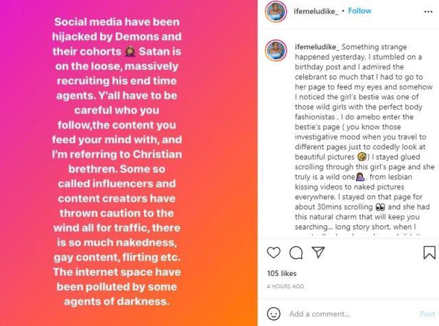 Chioma Ifemeludike warns