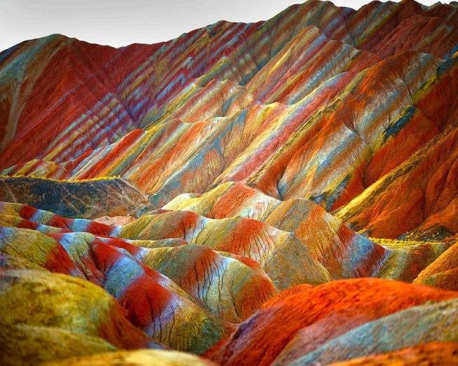 Montagnes de Zhangye Danxia en Chine