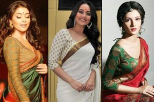 Full Sleeve Blouse Designs for Net Sarees