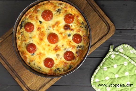 Киш с курицей и грибами - пошаговый рецепт с фото на ЯБпоела