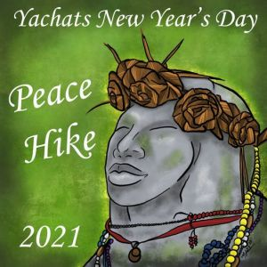 2021 New Year's Peace Hike, Yachats, OR