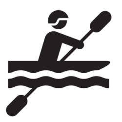 Kayaking symbol