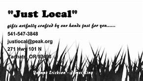 Just Local Business Card, Yachats, OR