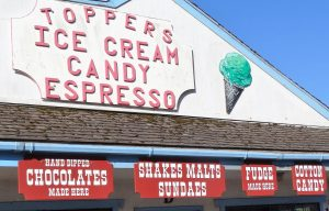 Topper's Ice Cream & Candy Sign, Yachats, OR
