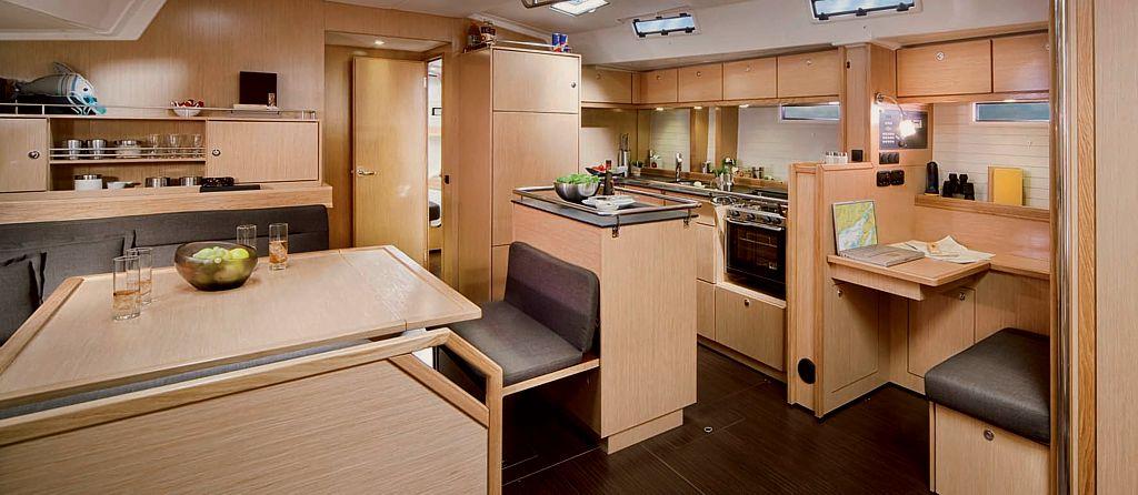 Bavaria 55 Cruiser Interior YACHT CHARTER CROATIA