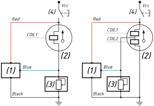 Connection in parallel with an existing analog gauge