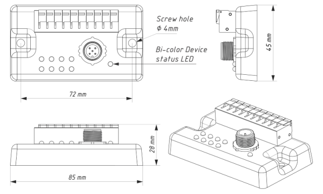 Drawing of Switch Control YDSC-04
