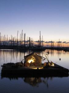 The marina nativity scene