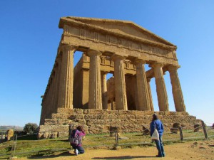 Admiring the Temple of Concordia