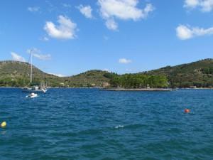 Anchored next to Lazareto Island